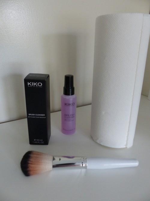 Nettoyage de pinceaux avec KIKO