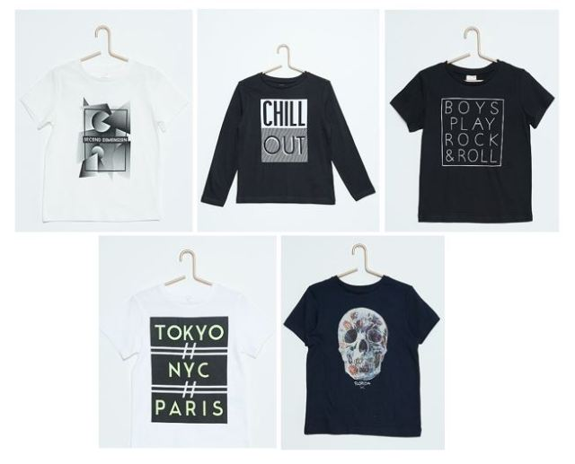 t-shirts pour petit garçon - kiabi