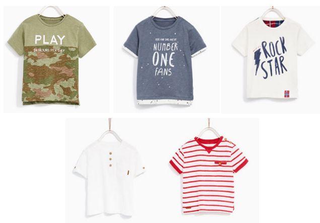 t-shirts pour petit garçon zara - blog maman