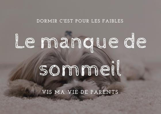 Manque de sommeil - blog maman