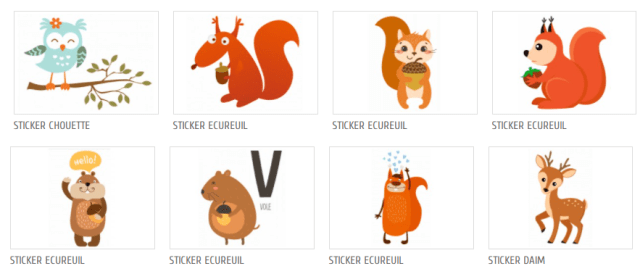 Stickers animaux enfant chambre