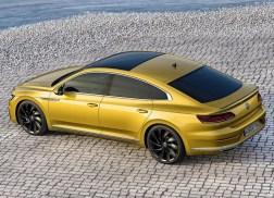 Volkswagen Arteon arrière jaune