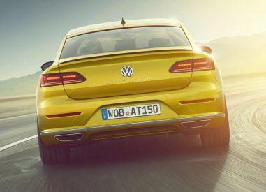 Volkswagen Arteon face arrière dynamique r-line jaune