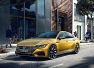 Volkswagen Arteon statique avant r-line jaune