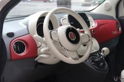 Intérieur Fiat 500 60ème anniversaire Motor Village Paris