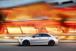 Mercedes Classe A berline 2018 profil dynamique
