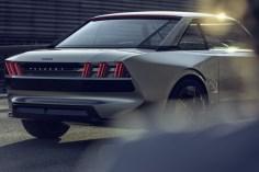 Peugeot e-Legend Concept arrière profil jantes feux logo