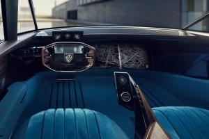Peugeot e-Legend Concept intérieur écran volant compteurs combiné
