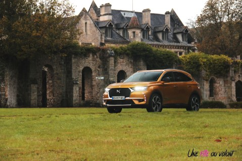 DS 7 Crossback 2018 orange avant jantes