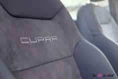 Cupra Ateca intérieur siège détail logo
