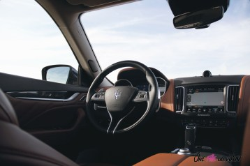 Maserati Levante 2019 intérieur volant détail