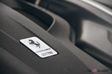 Ferrari GTC4 Lusso logo détail moteur
