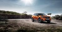 Peugeot 2008 2019 orange fusion statique jantes