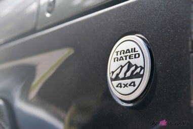 Jeep Wrangler 2019 badge trail rated 4X4 détail