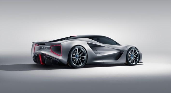 Lotus Evija 2019 profil jantes arrière diffuseur