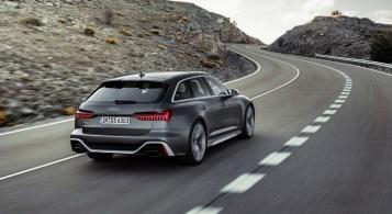 Audi RS6 Avant 2019 arrière diffuseur échappement