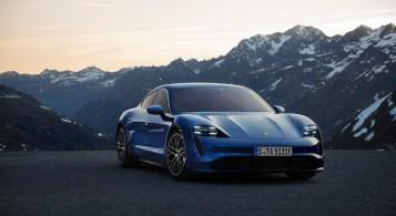 Porsche Taycan 2019 berline électrique Francfort statique