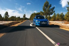 Essai Peugeot 208 2019 dynamique bleu vertigo face avant citadine puretech 75 chevaux essence