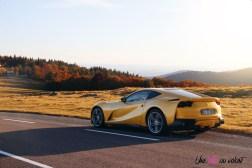Road-Trip Ferrari Paris-Mulhouse 812 Superfast arrière statique V12