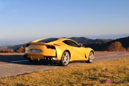 Road-Trip Ferrari Paris-Mulhouse 812 Superfast arrière échappement bouclier