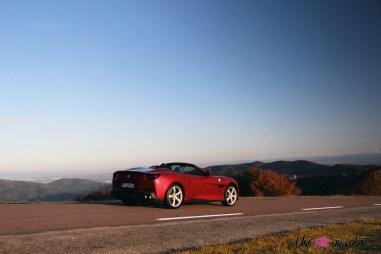 Road-Trip Ferrari Paris-Mulhouse Portofino arrière profil jantes feux
