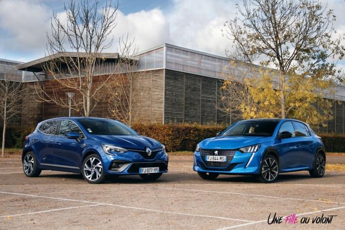 Comparatif Peugeot 208 Renault Clio 0145