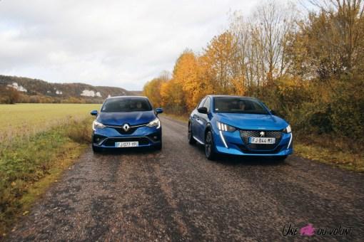Comparatif Peugeot 208 Renault Clio 0188