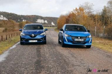 Comparatif Peugeot 208 Renault Clio 0190