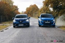 Comparatif Peugeot 208 Renault Clio 0197