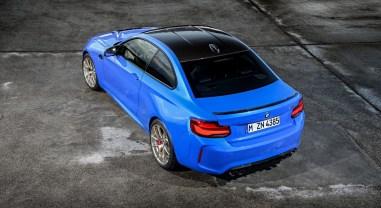 BMW M2 CS 2019 arrière toit bleu Misano