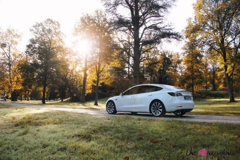 Essai Tesla Model 3 Performance 2019 arrière aileron feux