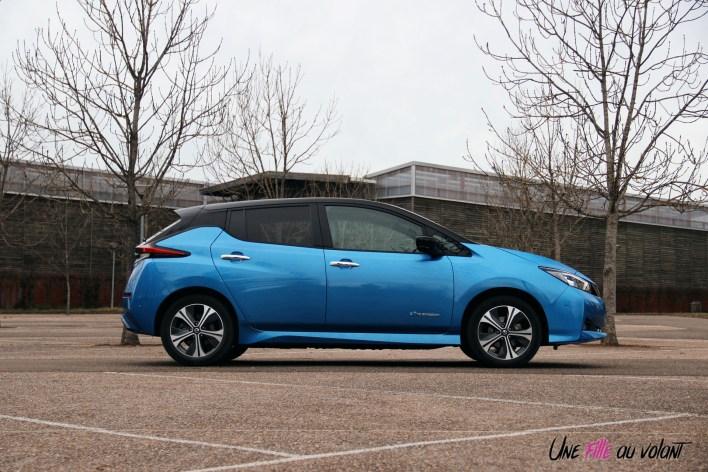 Photos essai Nissan Leaf e+ 2020 profil