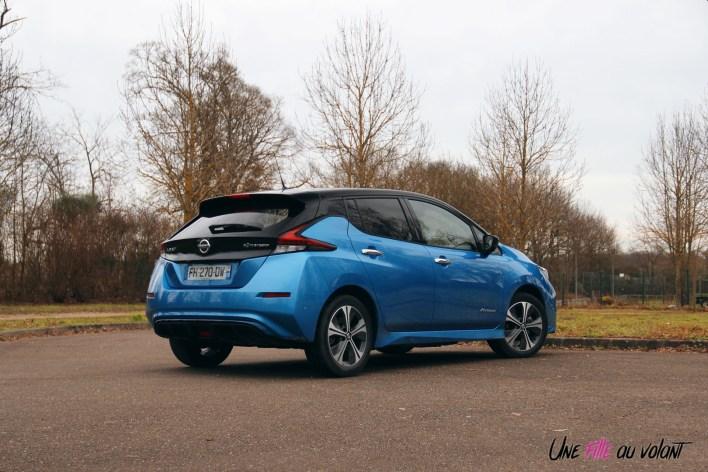 Photos essai Nissan Leaf e+ 2020 arrire statique