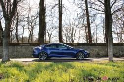 Photos essai Tesla Model S Grande Autonomie 2020 profil statique berline Žlectrique