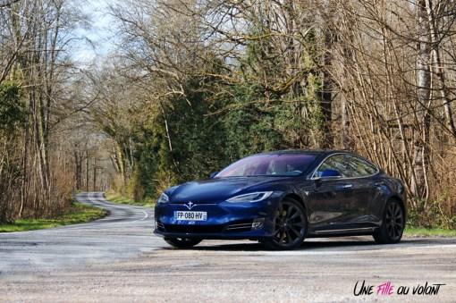 Photos essai Tesla Model S Grande Autonomie 2020 face avant statique