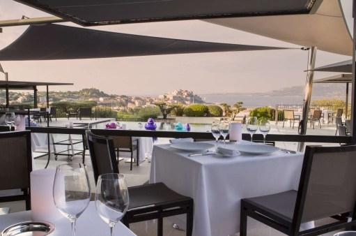photos Hotel La Villa Calvi Corse restaurant La Table By La Villa