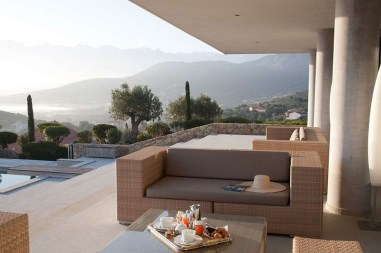 photos Hotel La Villa Calvi Corse terrasse piscine