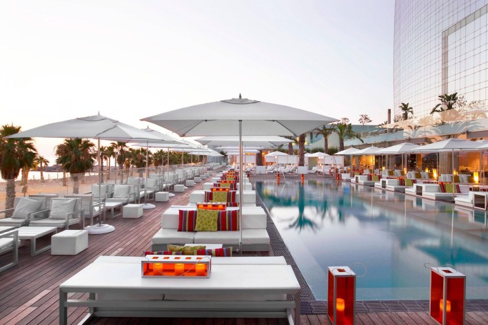 Photos hotel W Barcelona piscine