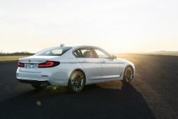 Photos BMW Serie 5 restylee 2020 berline arrire