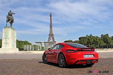 Photos essai Porsche 718 Cayman S 2020 face arrire
