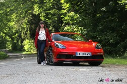 Photos essai Porsche 718 Cayman S 2020 Marie Lizak statique