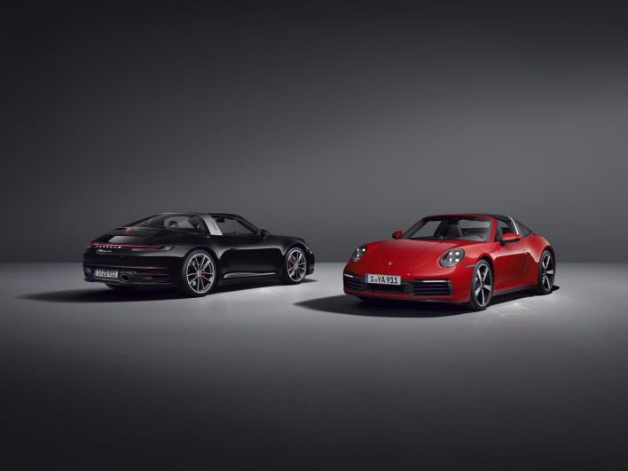 Photos Porsche 911 Targa 2020 noir rouge