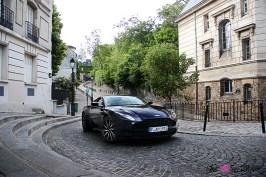 Photos essai Aston Martin DB11 statique trois quarts avant bleu