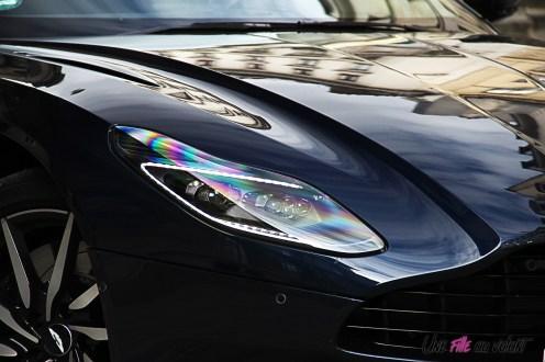 Photos essai Aston Martin DB11 feux avant capot dŽtail