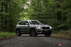 Photo essai BMW X3 hybride rechargeable 2020 profil gris