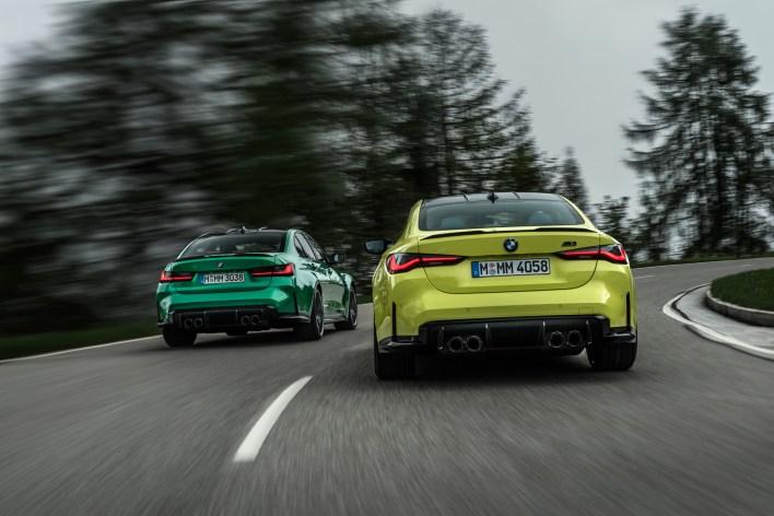 Photo arrire dynamique BMW M3 et M4 2020