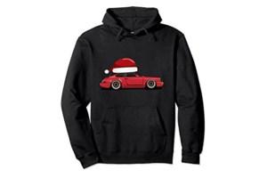 Pull moche de Noël Porsche 911 à chapeau