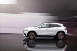 Photo profil Mercedes EQA électrique 2021