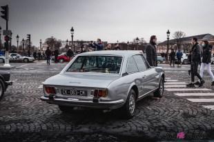 Photo Traversée de Paris hivernale 2021 Peugeot 504 arrière