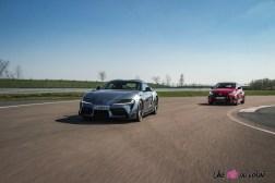 Photo comparatif dynamique Toyota GR Yaris et Toyota GR Supra 2021